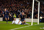 Pic Kenny Smith.......17/11/2007.Scotland V Italy, Hampden Park Glasgow, Euro 2008 qualifier. Barry Ferguson turns away in celebration after netting the equaliser
