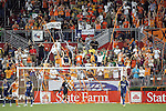 25 July 2007:  The Houston fans celebrate after Nate Jaqua (out of view) scored the game winning goal.  Club America was defeated by the Houston Dynamo 0-1 at Robertson Stadium in Houston, Texas, in a first round SuperLiga 2007 match.