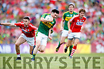 Paul Murphy Kerry Luke Connolly in action against  Cork in the Munster Senior Football Final at Fitzgerald Stadium on Sunday.