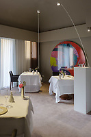 Modena, 23 February 2017 – Images of the dining areas and art at Osteria Francescana, Modena, Italy. Photo Sydney Low