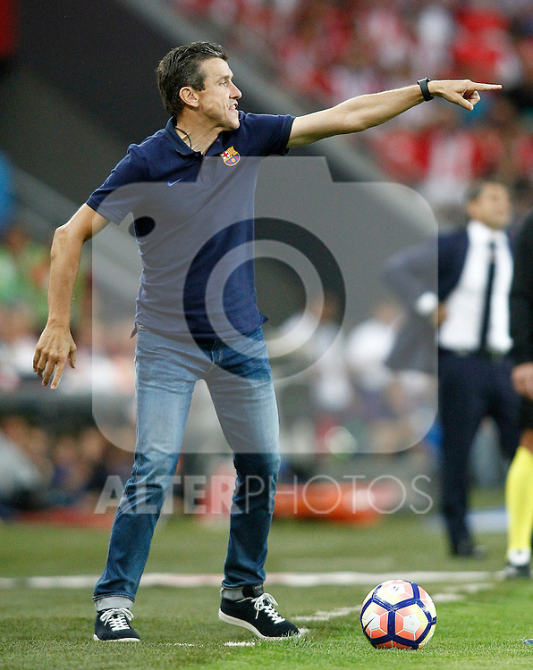 FC Barcelona's second coach Juan Carlos Unzue during La Liga match. August 28,2016. (ALTERPHOTOS/Acero)