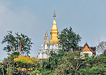 Wat Chomsi is a small temple that crowns the top of Mount Phousi in Luang Prabang.