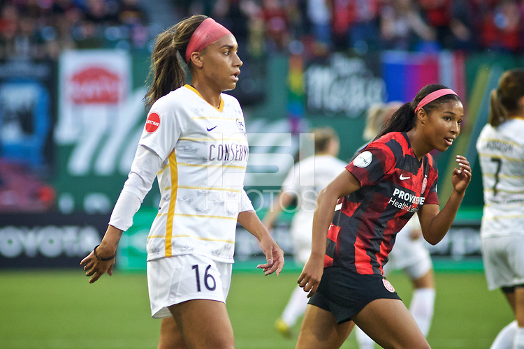 Portland, OR - Friday, June 21, 2019: Portland Thorns FC vs Utah Royals FC at Providence Park.