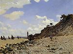 Claude Monet - Seaside at Honfleur (1864). Los Angeles, Los Angeles County Museum of Art.