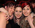 Amy Barton, Sinead O'Reilly and Lorraine Kelliher, Killarney,  at the 'Take Me Out'  theme night at the Valentines  Ultimate Singles Party in The Killarney Grand Hotel on Monday night.  Picture: Eamonn Keogh (MacMonagle, Killarney)