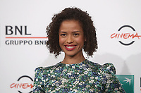 "L'attrice britannica Gugu Mbattha-Raw posa durante un photocall per la presentazione del film ""Motherless Brooklyn"" alla 14^ Festa del Cinema di Roma all'Aufditorium Parco della Musica di Roma, 17 ottobre 2019.<br /> British actress Gugu Mbattha-Raw poses for a photocall to present the movie ""Motherless Brooklyn"" during the 14^ Rome Film Fest at Rome's Auditorium, on 17 october 2019.<br /> UPDATE IMAGES PRESS/Isabella Bonotto"