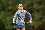 CHAPEL HILL, NC - OCTOBER 15: Virginia's Kate Harper on the 18th tee. The third and final round of the Ruth's Chris Tar Heel Invitational Women's Golf Tournament was held on October 15, 2017, at the UNC Finley Golf Course in Chapel Hill, NC.