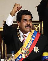 Nicolas Maduro, Venezuela's interim president swearing ceremony - Venezuela