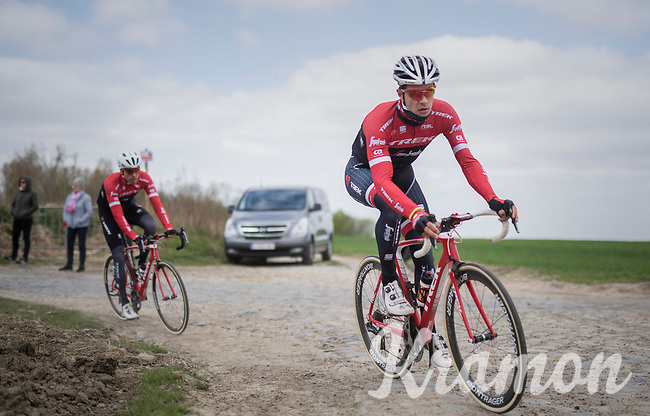 Jasper Stuyven (BEL/Trek-Segafredo)<br /> <br /> Team Trek-Segafredo during their 2017 Paris-Roubaix recon, 3 days prior to the event.