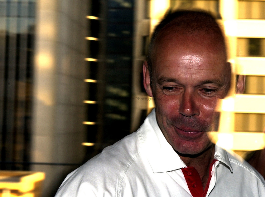 Photo: Richard Lane..England Press Conference at the Hilton, Brisbane. RWC 2003. 05/11/2003..England coach, Clive Woodward.