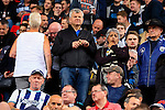 Stoke City 1 West Bromwich Albion 1, 24/09/2016. Bet365 Stadium, Premier League. Adrian Chiles and friend at half time. Photo by Paul Thompson.