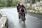 Dan Martin (IRL) UAE Team Emirates in action during a wet miserable Stage 7 of the 2018 Paris-Nice running 175km from Nice to Valdeblore la Colmiane, France. 10th March 2018.<br /> Picture: ASO/Alex Broadway   Cyclefile<br /> <br /> <br /> All photos usage must carry mandatory copyright credit (&copy; Cyclefile   ASO/Alex Broadway)