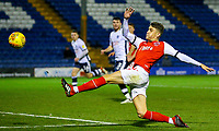 Fleetwood Town's Harrison Biggins stretches to reach a pass<br /> <br /> Photographer Alex Dodd/CameraSport<br /> <br /> The EFL Checkatrade Trophy Group B - Bury v Fleetwood Town - Tuesday 13th November 2018 - Gigg Lane - Bury<br />  <br /> World Copyright &copy; 2018 CameraSport. All rights reserved. 43 Linden Ave. Countesthorpe. Leicester. England. LE8 5PG - Tel: +44 (0) 116 277 4147 - admin@camerasport.com - www.camerasport.com