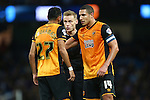 Hull's Ahmed Elmohamady questions referee Mike Jones - Manchester City vs Hull City - Capital One Cup - Etihad Stadium - Manchester - 01/12/2015 Pic Philip Oldham/SportImage