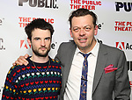 """Tom Sturridge and Simon Stephens attends the """"Sea Wall / A Life"""" opening night at The Public Theater on February 14, 2019, in New York City."""