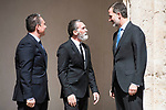 Spanish actor Antonio Banderas and King Felipe VI of Spain attends to the delivery of the Camino Real Award to spanish actor Antonio Banderas at Alcala de Henares in Madrid, April 26, 2017. Spain.<br /> (ALTERPHOTOS/BorjaB.Hojas)