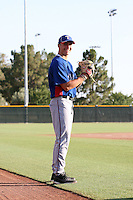 Kevin Matthews of the AZL Rangers before a game against the AZL Giants in an Arizona League game at Indian Bend Park on June 25, 2011 in Scottsdale, Arizona. Matthews was the first round pick of the Rangers in the 2011 draft. (Bill Mitchell/Four Seam Images)