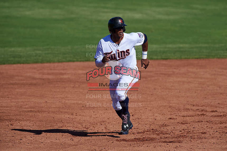 Scottsdale Scorpions outfielder Adam Brett Walker II (27) running the bases during an Arizona Fall League game against the Surprise Saguaros on October 22, 2015 at Scottsdale Stadium in Scottsdale, Arizona.  Surprise defeated Scottsdale 7-6.  (Mike Janes/Four Seam Images)