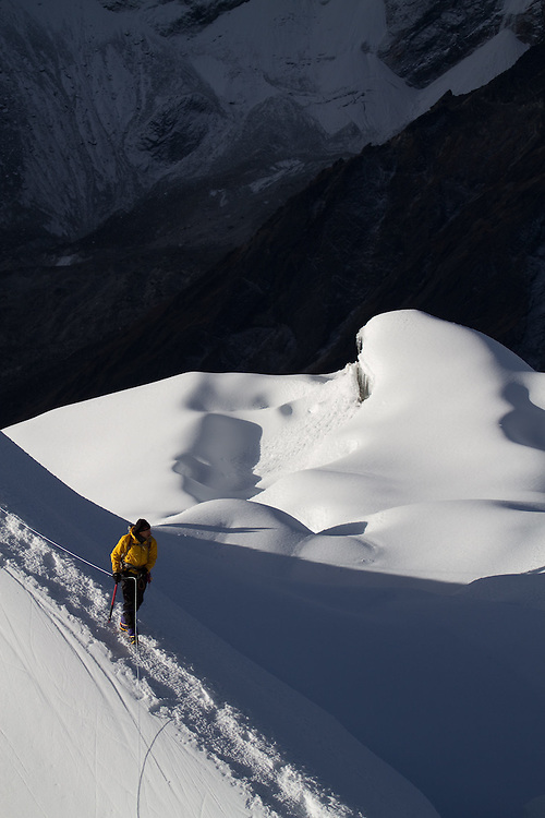 Charley Mace on Lobuche. Photo by Didrik Johnck.