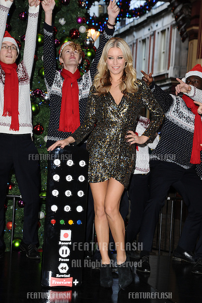 Denise Van Outen launches the Freeview+ Xmas campaign, Leadenhall market, London. 26/11/2012 Picture by: Steve Vas / Featureflash