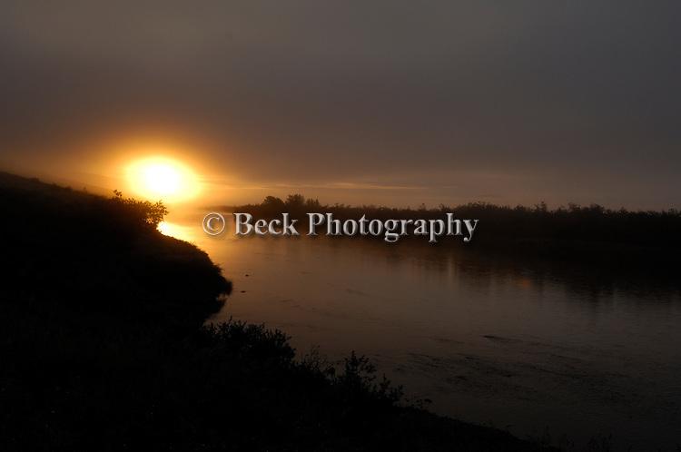 First light on Goodnews river Alaska
