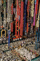Tunisia.  Tunis Medina.  Jewelry, Necklaces, Bracelets.