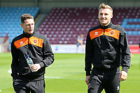 The Blackpool players inspect the pitch before kick off<br /> <br /> Photographer David Shipman/CameraSport<br /> <br /> The EFL Sky Bet League One - Scunthorpe United v Blackpool - Friday 19th April 2019 - Glanford Park - Scunthorpe<br /> <br /> World Copyright © 2019 CameraSport. All rights reserved. 43 Linden Ave. Countesthorpe. Leicester. England. LE8 5PG - Tel: +44 (0) 116 277 4147 - admin@camerasport.com - www.camerasport.com