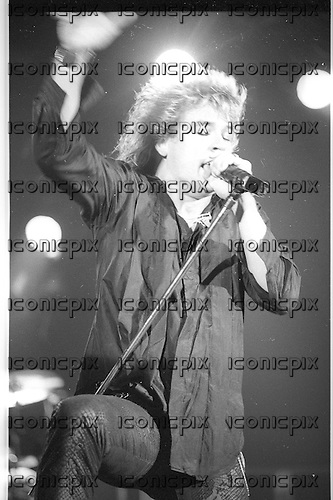 Brighton Rock - vocalist Gerry McGhee - performing live  in concert  Los Angeles USA - May 1987.  Photo Credit : David Plastik/ IconicPix