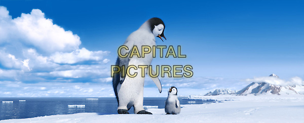 (L-r) Mumble, voiced by ELIJAH WOOD; and Erik, voiced by AVA ACRES.in Happy Feet Two .*Filmstill - Editorial Use Only*.CAP/FB.Supplied by Capital Pictures.