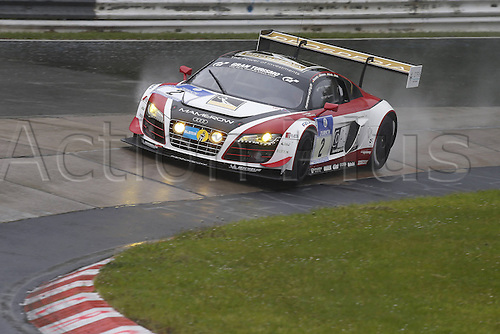 17.05.2013. Nürburg, Rhineland-Palatinate, Germany.  Christian Mamerow Marc Basseng Ren? Rest Thomas Mutsch Prosperia C Abbot team Mamerow Audi R8 LMS Ultra  at the 24 hours endurance Race Nurburgring 2013