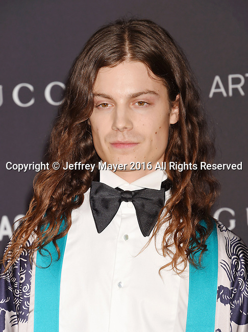 LOS ANGELES, CA - OCTOBER 29: Singer/songwriter BORNS attends the 2016 LACMA Art + Film Gala honoring Robert Irwin and Kathryn Bigelow presented by Gucci at LACMA on October 29, 2016 in Los Angeles, California.