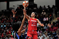 Washington, DC - June 1, 2019: Washington Mystics guard Kristi Toliver (20) in action during game between Atlanta Dream and Washington Mystics at the St. Elizabeths East Entertainment and Sports Arena (Photo by Phil Peters/Media Images International)