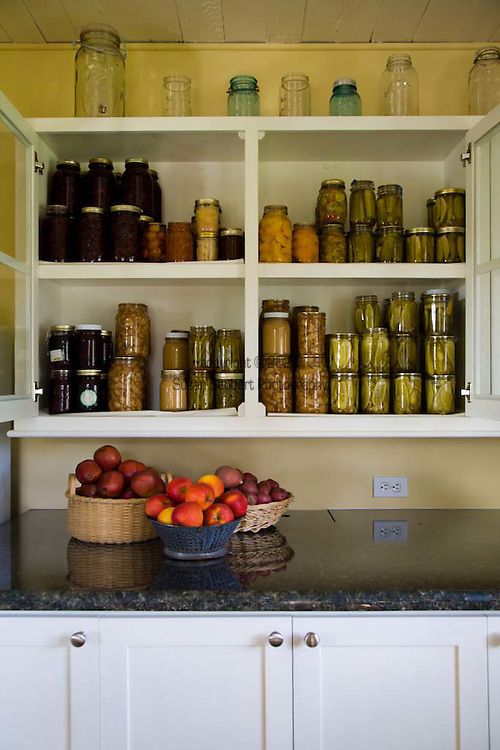 Historic Oregon City home, the White Kellogg House, an 1845 classic revival home set on 8 acres of farmland.  dried and preserved fruits and vegetables in the pantry.