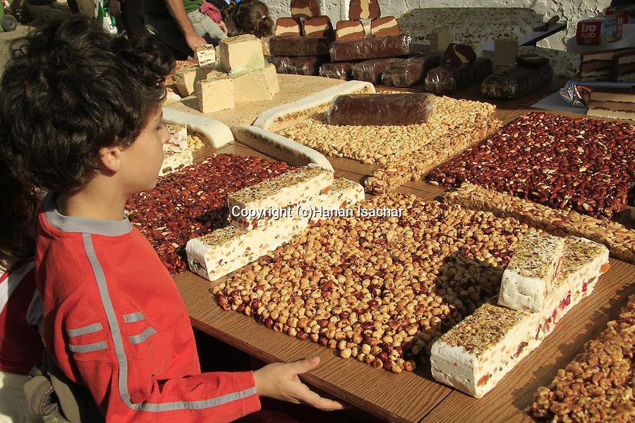 Israel, Haifa, sweet delights in Wadi Nisnas