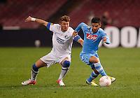 NAPOLI 08/11/2012 - GRUPPO F UEFA  EUROPA LEAGUE.INCONTRO NAPOLI - DNIPRO.NELLA FOTO  LORENZO INSIGNE .FOTO CIRO DE LUCA