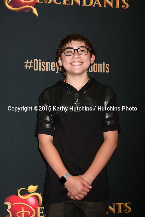 "LOS ANGELES - JUL 24:  Raymond Ochoa at the ""Descendants"" Premiere Screening at the Walt Disney Studios on July 24, 2015 in Burbank, CA"