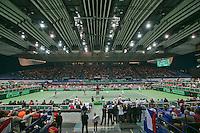 01-02-14,Czech Republic, Ostrava, Cez Arena, Davis Cup Czech Republic vs Netherlands, Overall view<br /> <br /> Photo: Henk Koster