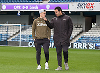 Leeds United's Ezgjan&nbsp;Alioski pictured before today's match with club translator Salim Lamrani <br /> <br /> Photographer Andrew Kearns/CameraSport<br /> <br /> The Emirates FA Cup Third Round - Queens Park Rangers v Leeds United - Sunday 6th January 2019 - Loftus Road - London<br />  <br /> World Copyright &copy; 2019 CameraSport. All rights reserved. 43 Linden Ave. Countesthorpe. Leicester. England. LE8 5PG - Tel: +44 (0) 116 277 4147 - admin@camerasport.com - www.camerasport.com