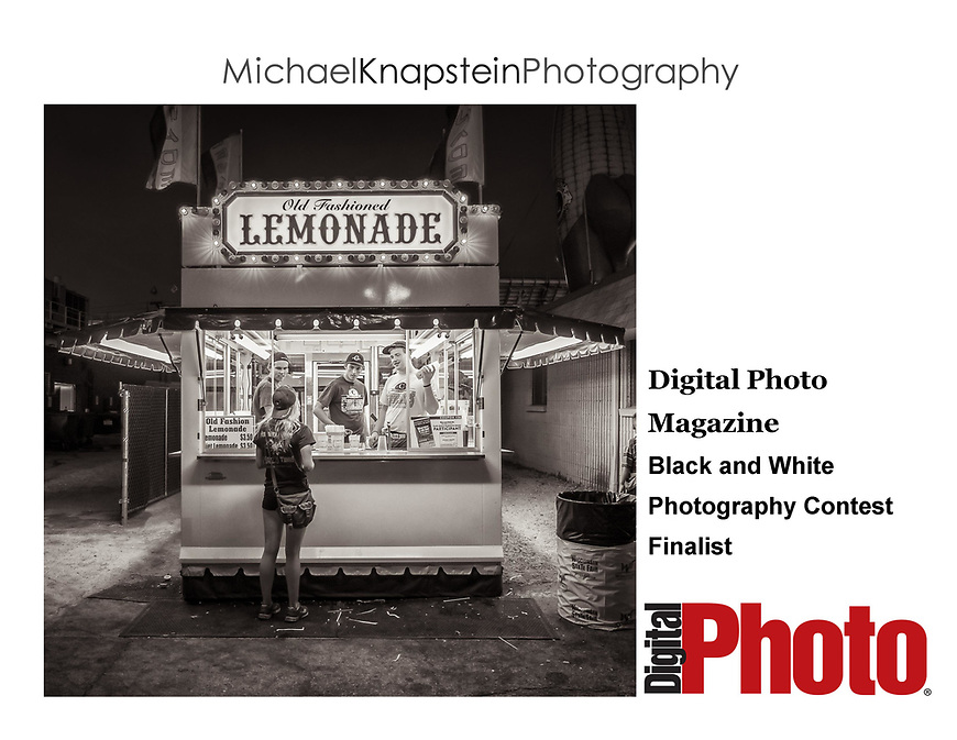 """State Fair"" by Michael Knapstein was selected as a Finalist in a black and white photography competition from Digital Photo Magazine."