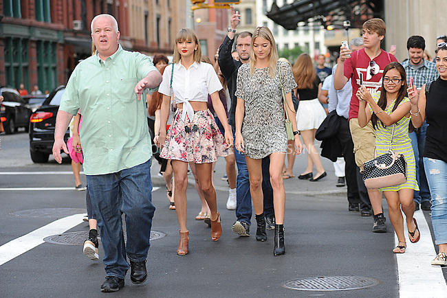 WWW.ACEPIXS.COM<br /> May 29, 2015 New York City<br /> <br /> Taylor Swift and Martha Hunt seen walking in Tribeca in New York City on May 29, 2015.<br /> <br /> By Line: Kristin Callahan/ACE Pictures<br /> <br /> tel: 646 769 0430<br /> Email: info@acepixs.com<br /> www.acepixs.com