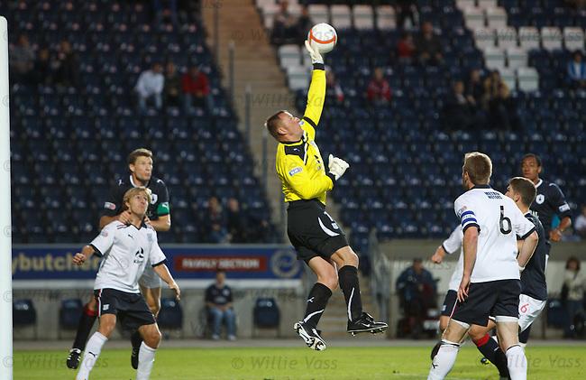 Rab Douglas saves for Dundee