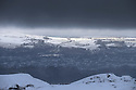 21/02/15  <br /> <br /> The view overlooking Buxton after heavy snow showers across the Derbyshire Peak District.<br /> <br /> All Rights Reserved - F Stop Press.  www.fstoppress.com. Tel: +44 (0)1335 418629 +44(0)7765 242650