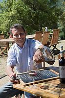 Europe/France/2A/Corse du Sud/Casalabriva: Jean-Charles Abbatucci vigneron et restaurateur Domaine Comte Abbatucci, lieu-dit Kiesale,  [Non destiné à un usage publicitaire - Not intended for an advertising use]