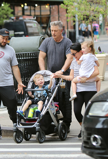 www.acepixs.com<br /> <br /> May 4 2018, New York City<br /> <br /> Actor Aec Baldwin takes his children for a walk with the help of some nannies in the East Village on May 4 2018 in New York City<br /> <br /> By Line: John Sheene/ACE Pictures<br /> <br /> <br /> ACE Pictures Inc<br /> Tel: 6467670430<br /> Email: info@acepixs.com<br /> www.acepixs.com