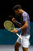 Rotterdam, The Netherlands, 14 Februari 2020, ABNAMRO World Tennis Tournament, Ahoy,   Aljaz Bedene (SLO), Felix Auger-Aliassime (CAN).<br /> Photo: www.tennisimages.com