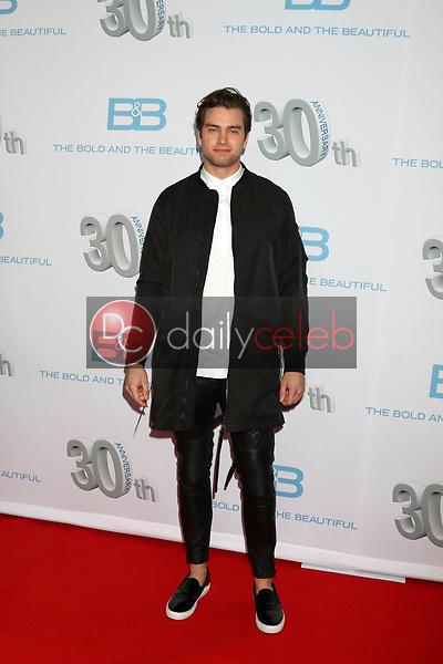 "Pierson Fode<br /> at the ""The Bold and The Beautiful"" 30th Anniversary Party, Clifton's Downtown, Los Angeles, CA 03-18-17<br /> David Edwards/DailyCeleb.com 818-249-4998"