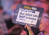 30.12.2015. Alexandra Palace, London, England. William Hill PDC World Darts Championship. Prayers for The church of Alexandra Palace