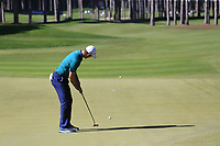 Justin Rose (ENG) putts on the 3rd green during Saturday's Round 3 of the 2018 Turkish Airlines Open hosted by Regnum Carya Golf &amp; Spa Resort, Antalya, Turkey. 3rd November 2018.<br /> Picture: Eoin Clarke | Golffile<br /> <br /> <br /> All photos usage must carry mandatory copyright credit (&copy; Golffile | Eoin Clarke)