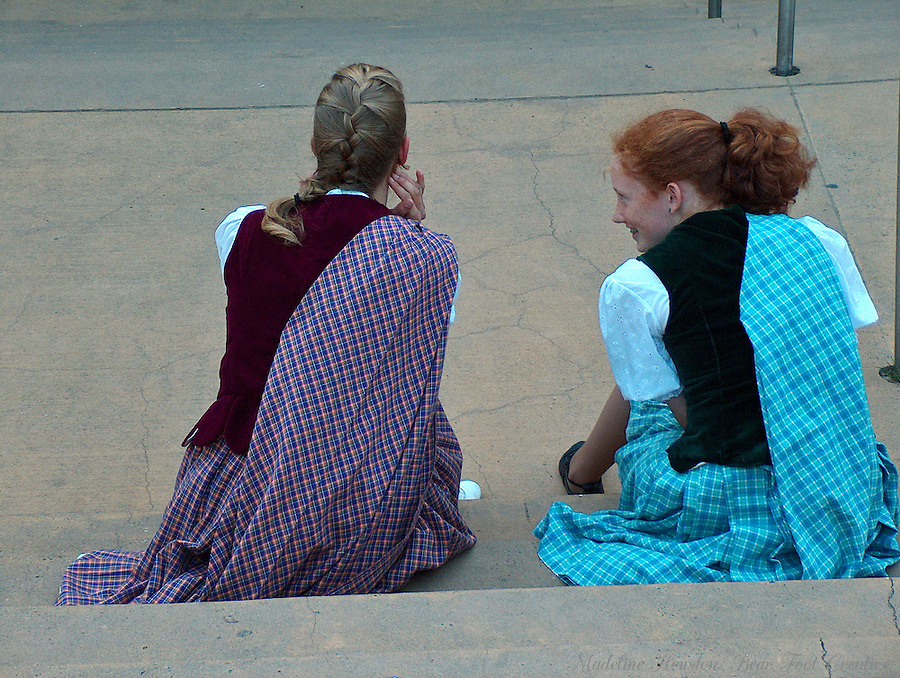 Dancers taking a break.  Bumbershoot Music & Arts Festival, Seattle, Washington, USA