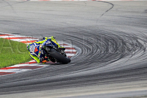 02.02.2016. Sepang, Malaysia.  Valentino Rossi of Movistar Yamaha MotoGP in action during the second day of official MotoGP testing session held at Sepang International Circuit in Sepang, Malaysia.